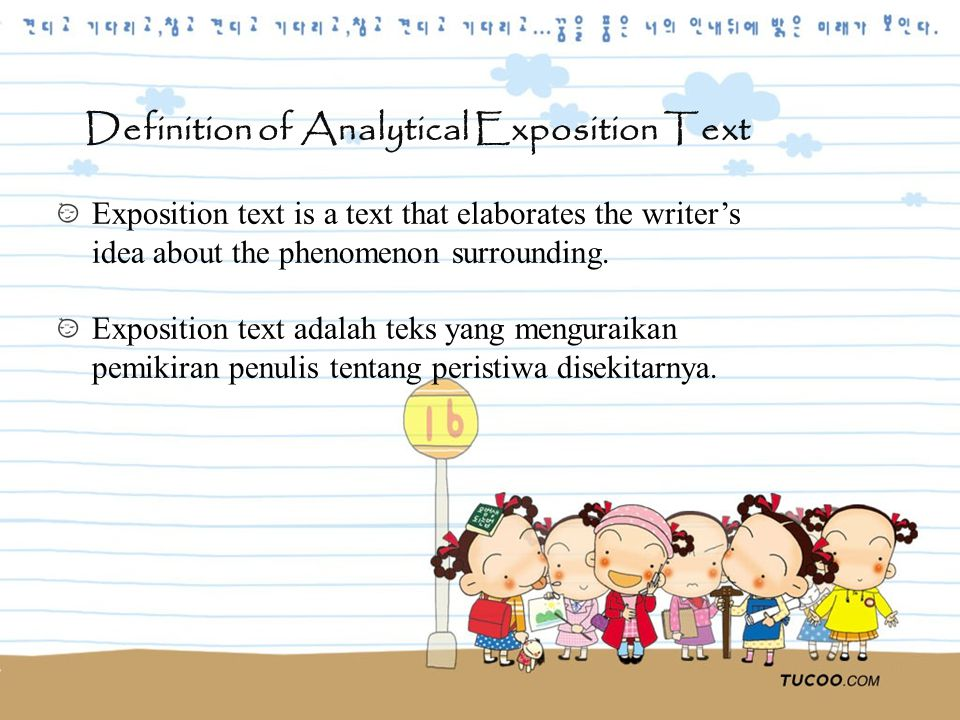 Analytical Expositon Text