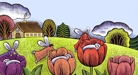 The Fairy Tulips Contoh Fairytales Narrative Text British Course